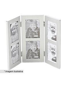 Porta Retrato Retangular- Prateado- 20X27Cm- Btcbtc Decor