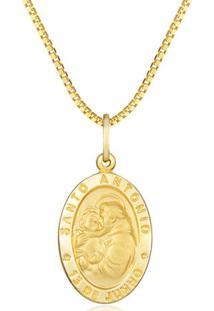 Pingente Santo Antã´Nio Ouro Amarelo