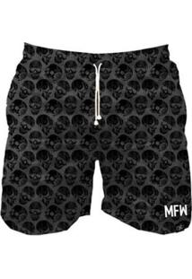 Short Tactel Maromba Fight Wear Black Skulls Com Bolsos Masculino - Masculino