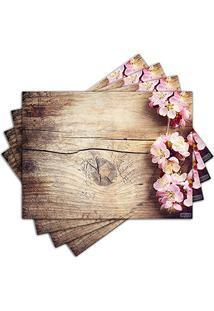 Jogo Americano - Flores Com 4 Peças - 458Jo