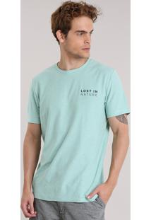 """Camiseta """"Lost In Nature"""" Verde"""