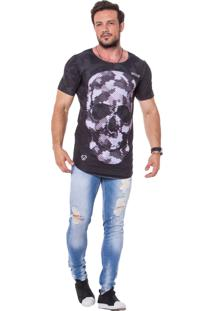 Camiseta Oversezed Sublimada Skull Skin