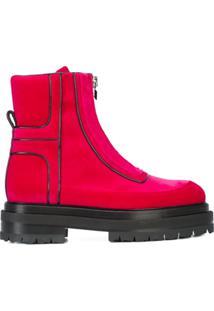 Pierre Hardy Ankle Boot De Couro Com Plataforma - Rosa