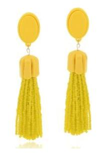 Brinco Le Diamond Luciana - Feminino-Amarelo