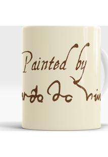 Caneca Painted By Da Vinci