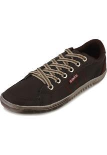 Sapatênis Spell Shoes Sp18-101 Café-Vermelho