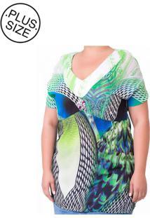 Blusa Estampada Plus Size - Confidencial Extra Multicolorido