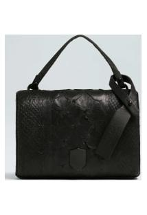 Pirarucu And Salmon Double Strap Clutch-Preto - Un