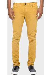 Calça Cavalera Skinny Elastano Color Stone - Masculino