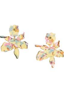 Lele Sadoughi Par De Brincos Lily - Amarelo