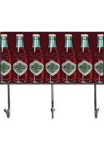 Cabideiro Coca Cola Garrafas Fundo Verde Cabideiro Coca Cola Garrafas Grande