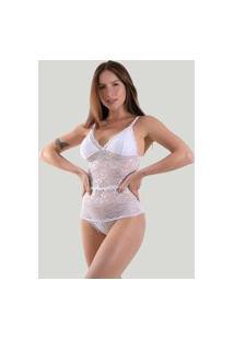 Body Renda Diluxo Feminino 320 Branco
