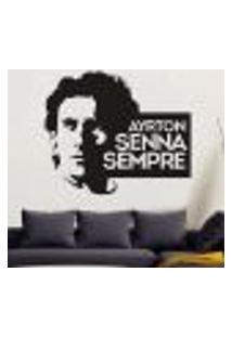 Adesivo De Parede Ayrton Senna 4 - G 58X70Cm