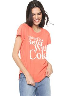 Camiseta Coca-Cola Jeans Things Go Better Laranja