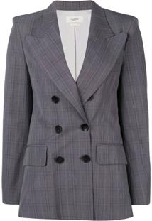 Isabel Marant Étoile Classic Double-Breasted Blazer - Cinza