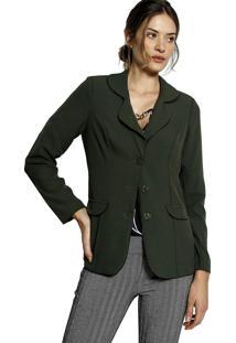 Blazer Alongado Plano Energia Fashion Verde