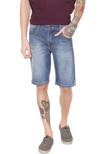 Bermuda Jeans Hd Slim Conf Azul