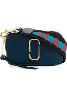 Marc Jacobs Bolsa Tiracolo 'Snapshot' De Couro - Azul