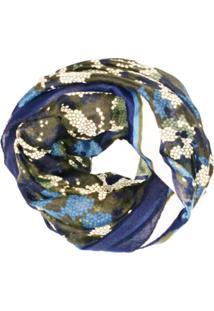 Echarpe Zohar Militar Azul