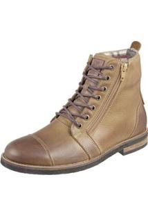 Bota Shoes Grand Ziper Masculina - Masculino-Caramelo