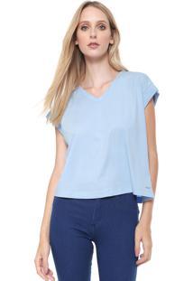 Camiseta Calvin Klein Ampla Azul