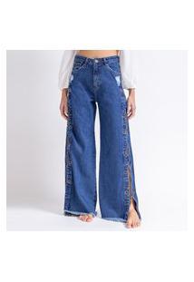 Calça Jeans Pantalona Correntes La Lima-36 Jeans