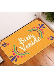 Tapete Decorativo Bienvenido ÚNico - Multicolorido - Dafiti