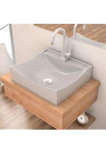 Cuba De Apoio Para Banheiro Compace Lunna Q44W Retangular Cinza