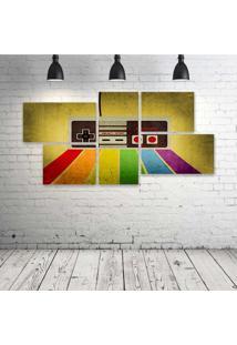 Quadro Decorativo - Gamer-Retro - Composto De 5 Quadros - Multicolorido - Dafiti