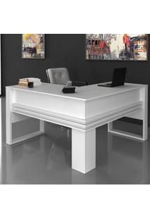 Mesa Para Escritório Angular Me4145 Branco - Tecno Mobili