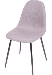 Cadeira Robin Linho Cinza Com Base Preta - 43085 - Sun House