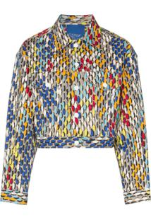 Simon Miller Jaqueta Estampada Cropped - 10044 Multicoloured