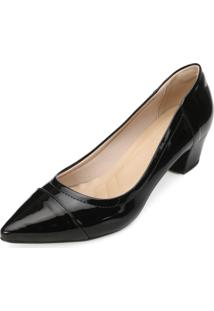 Scarpin Lady Queen Am18-41006 Verniz-Preto