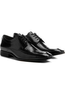 Sapato Social Couro Shoestock Léo - Masculino-Preto