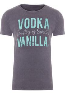 Camiseta Masculina Vodka Vanilla - Cinza