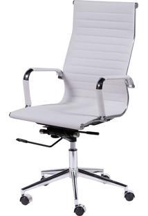 Cadeira Office Eames Esteirinha Alta Giratória Branco Or Design