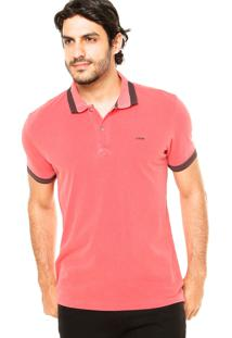 Camisa Polo Forum Bordado Coral