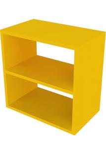 Nicho Quadrado Com Prateleira Cubo I Amarelo