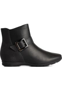 Bota Feminina Comfortflex Ankle Boot Preto - 34