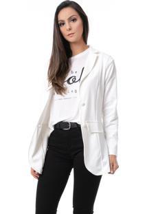 Blazer Alongado Pkd Off White - Off-White - Feminino - Dafiti