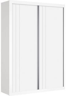 Roupeiro 2 Portas De Correr Prince Branco Fosco Reller Móveis