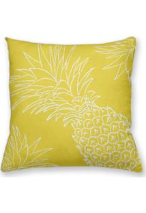 Capa De Almofada Decorativa Own Amarela Abacaxi 45X45 - Somente Capa