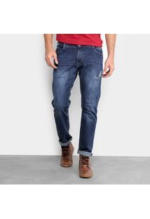 Calça Jeans Skinny Gangster Estonada Elastano Respingos Masculina - Masculino