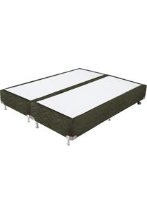 Cama Box Queen Ortocrin Sommier Plus - 158X198X30 Cm