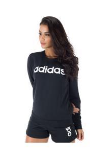 b4410ce77 ... Blusão Moletinho Adidas Essentials Linear - Feminino - Preto/Branco
