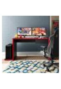 Mesa Gamer Drx Max 1 Gv Preta E Vermelha