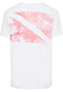 Camiseta Masculina Big-Shirt Flag - Branco