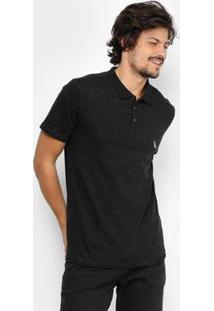 Camisa Polo Reserva Botonê Masculina - Masculino-Preto