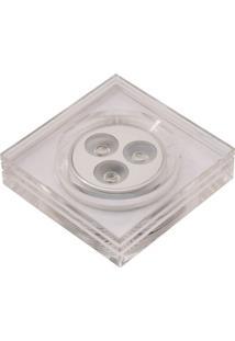 Spot Embutir Quadrado 5X9Cm 3W 3500K Luz Amarela Bella Iluminação Bivolt