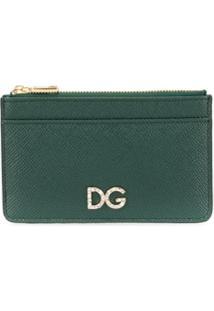 Dolce & Gabbana Porta-Moedas Com Logo - Verde